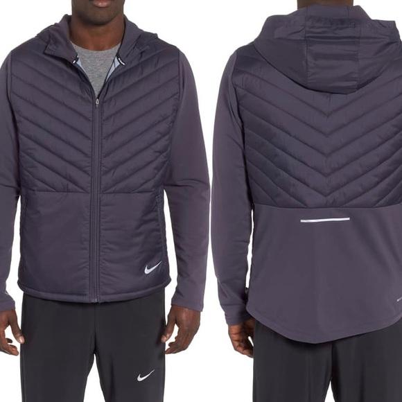 Nike Aerolayer Hooded Running Jacket In